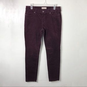 Banana Republic Skinny Fit Purple Corduroys 30/10
